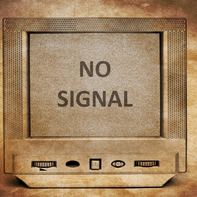 """TV no signal"" stock image"
