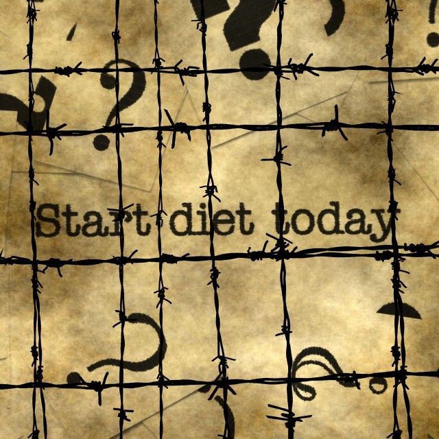 """Start diet today"" stock image"