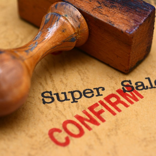 """Super sale - confirm"" stock image"
