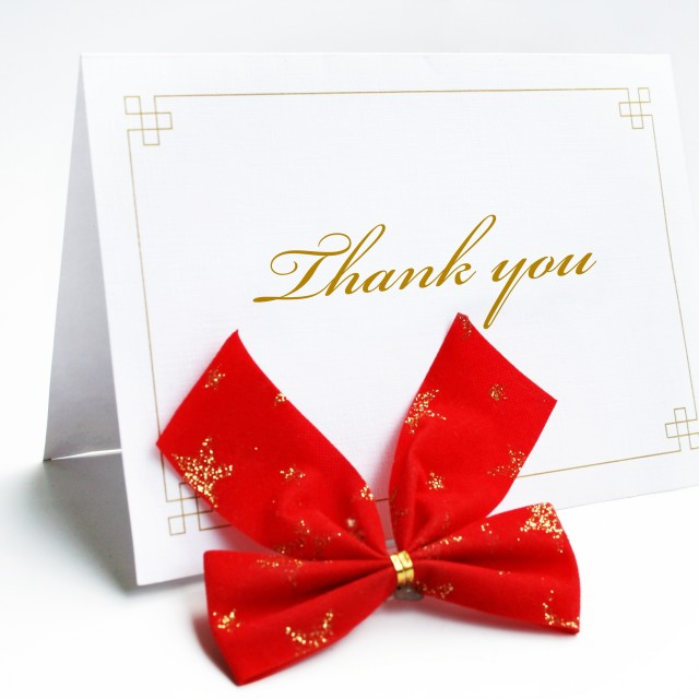 """Thank you card"" stock image"