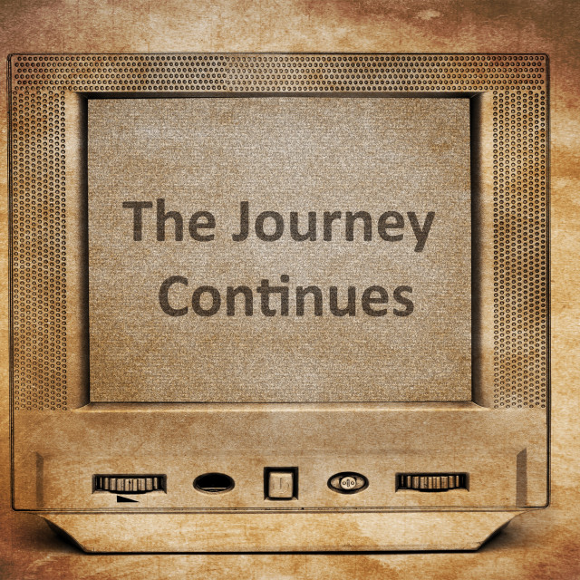 """the journey continues"" stock image"
