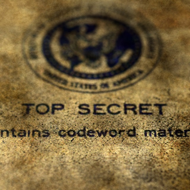 """Top secret"" stock image"