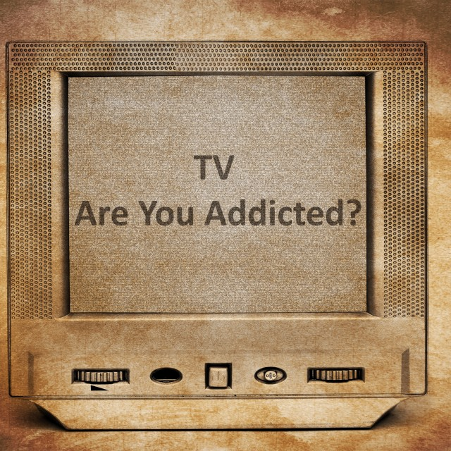"""TV addiction"" stock image"