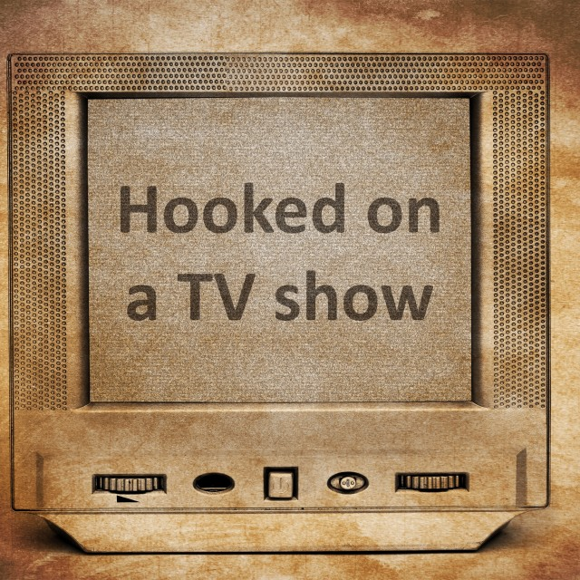 """Hooked on TV"" stock image"