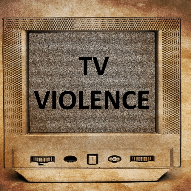"""TV violence"" stock image"