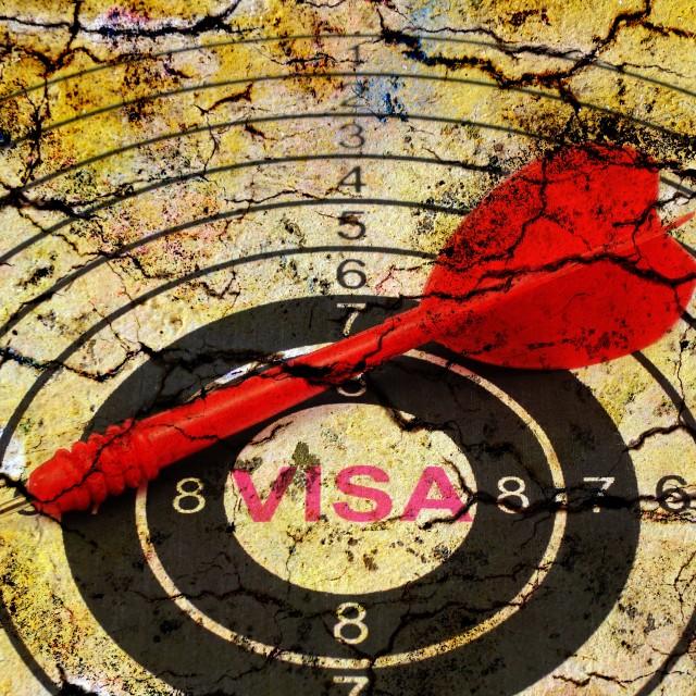 """Visa target concept"" stock image"