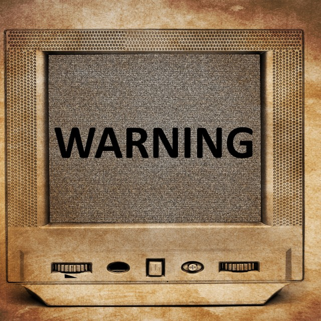"""TV warning"" stock image"