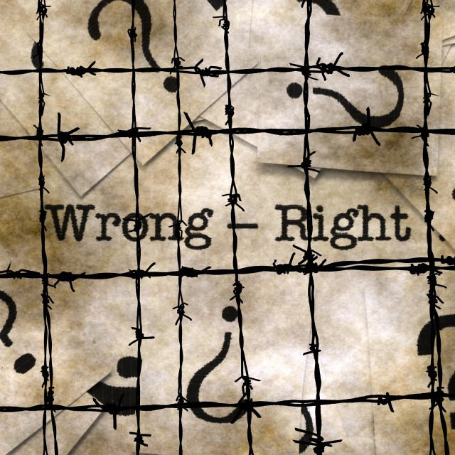 """Wrong - right concept"" stock image"