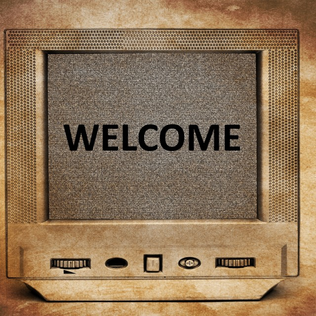 """TV welcome"" stock image"