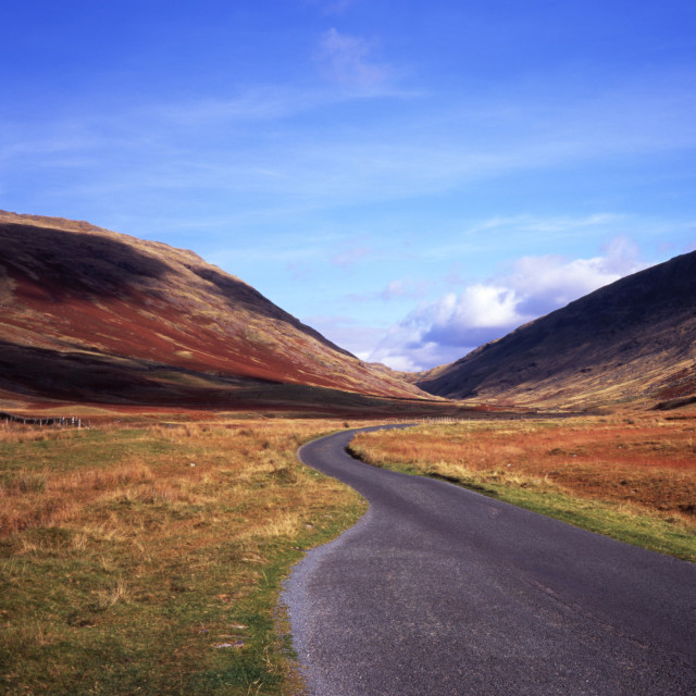 """""""Wrynose Pass Road"""" stock image"""
