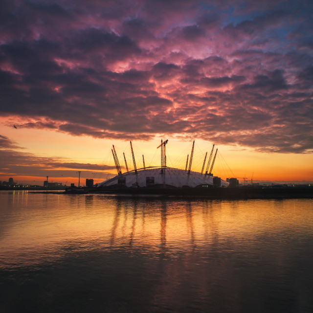 """O2 Arena at Sunrise"" stock image"