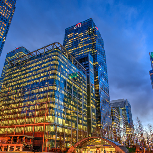 """""""The Citigroup Centre Building at Canary Wharf"""" stock image"""