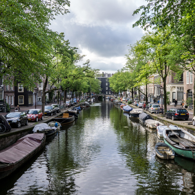 """Amsterdam Canal"" stock image"