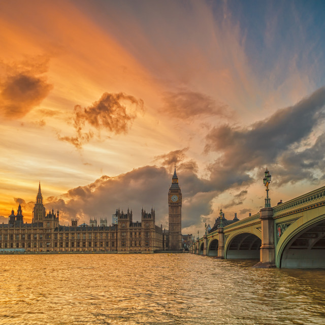 """The Big Ben at Sunset"" stock image"