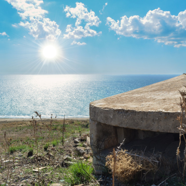 """A World War II wreck on the quiet Sicilian landscape"" stock image"