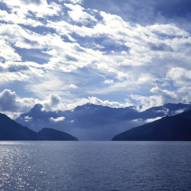 """""""Lake Lucerne and Sky"""" stock image"""