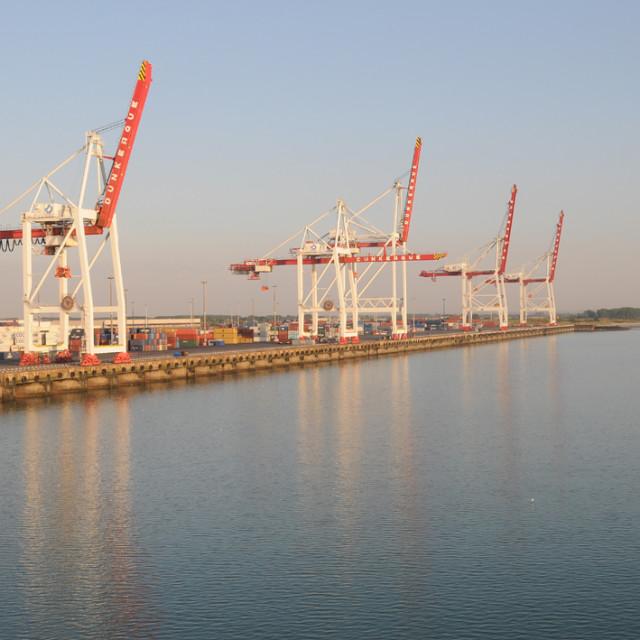 """Empty dockside"" stock image"