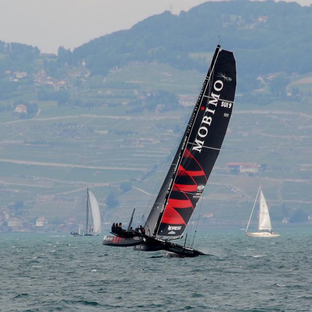 """Bol d'Or Lake Geneva Switzerland"" stock image"