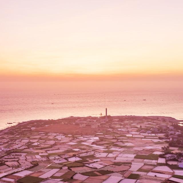"""""""Sunrise at Coast of Ly Son Island"""" stock image"""