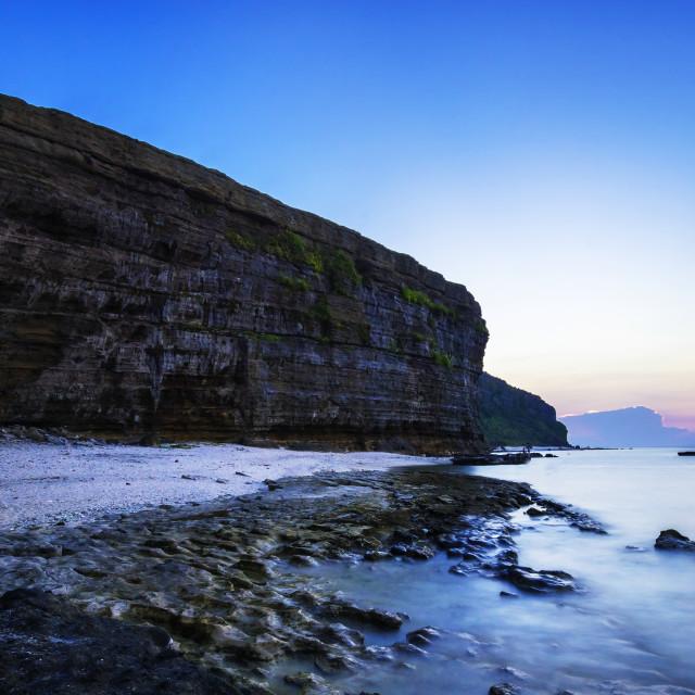 """Brilliant Sunset at Coast"" stock image"
