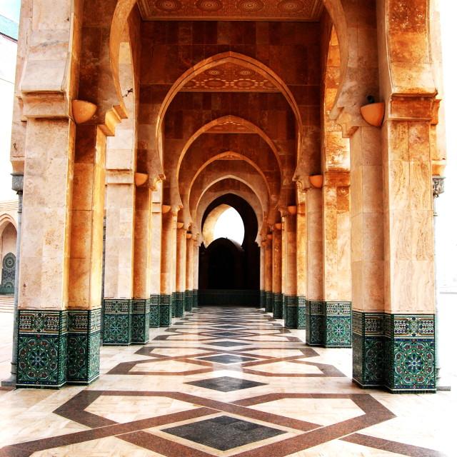 """Casablanca mosque Morocco"" stock image"