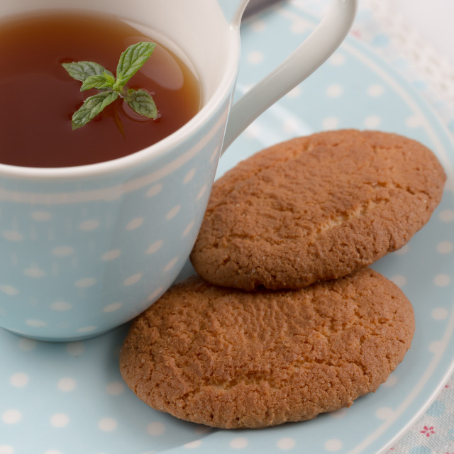 """Tea with cookies"" stock image"