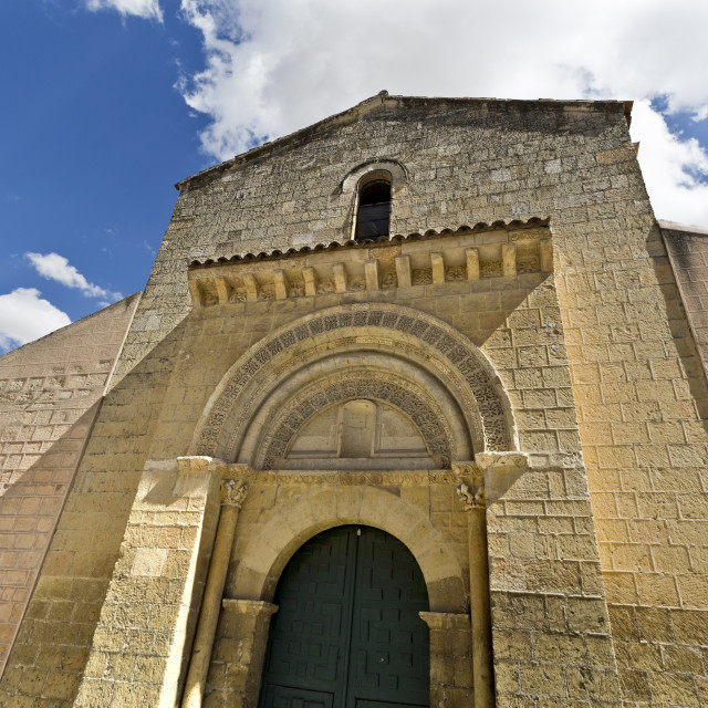 """Segovia Romanesque Church of San Sebastian"" stock image"