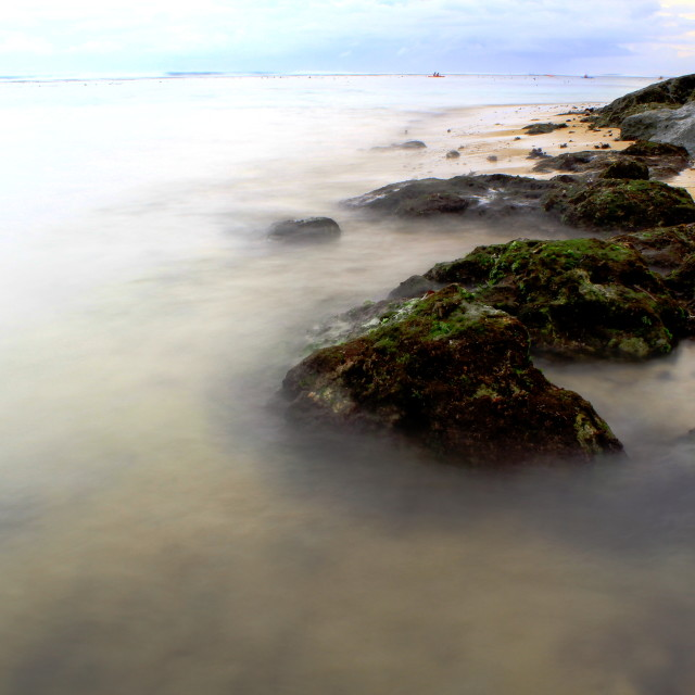"""""""Mouldy rocks by the beach"""" stock image"""