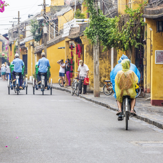 """Traveller at Hoi An Ancient Town"" stock image"