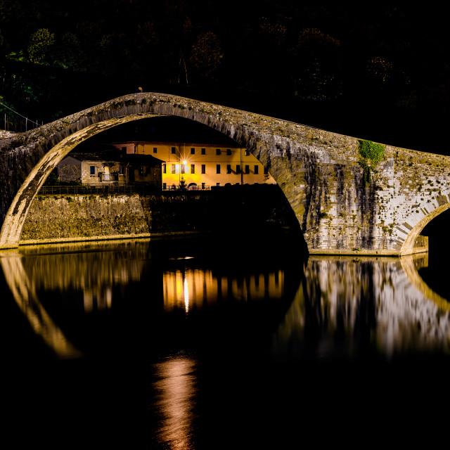 """""""Ponte della Maddalena"""" stock image"""