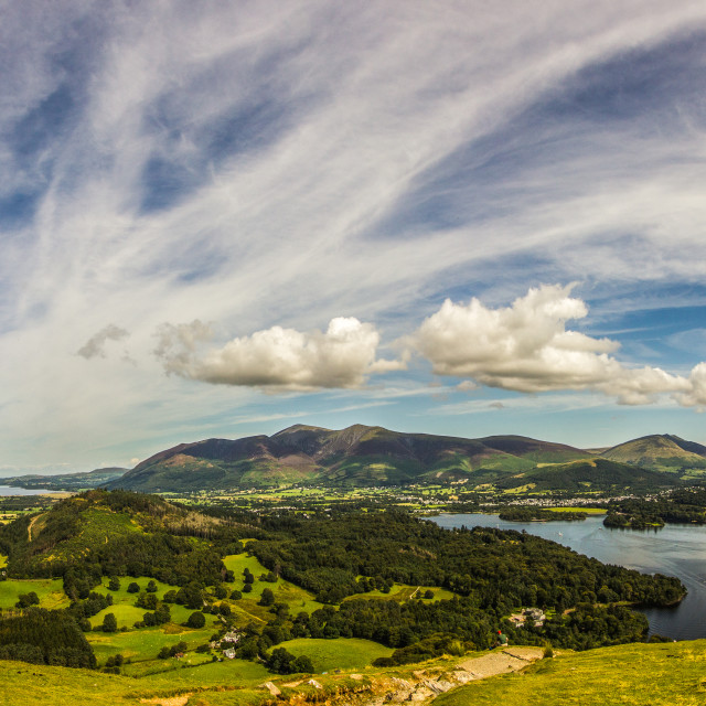 """Lake District Panorama"" stock image"