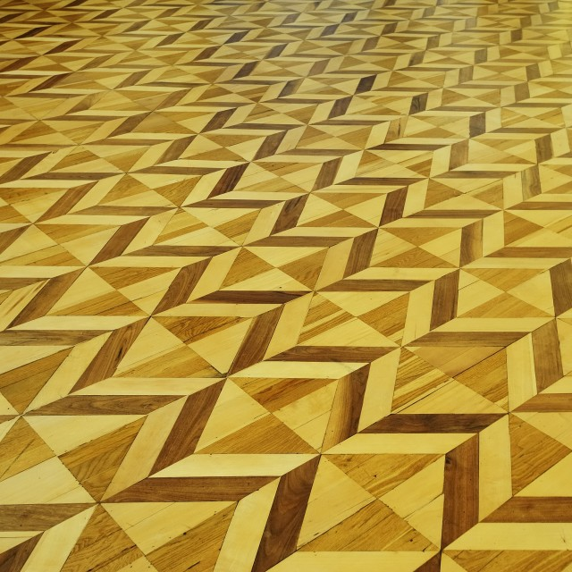 """Ornate Decorative Timber Floor"" stock image"