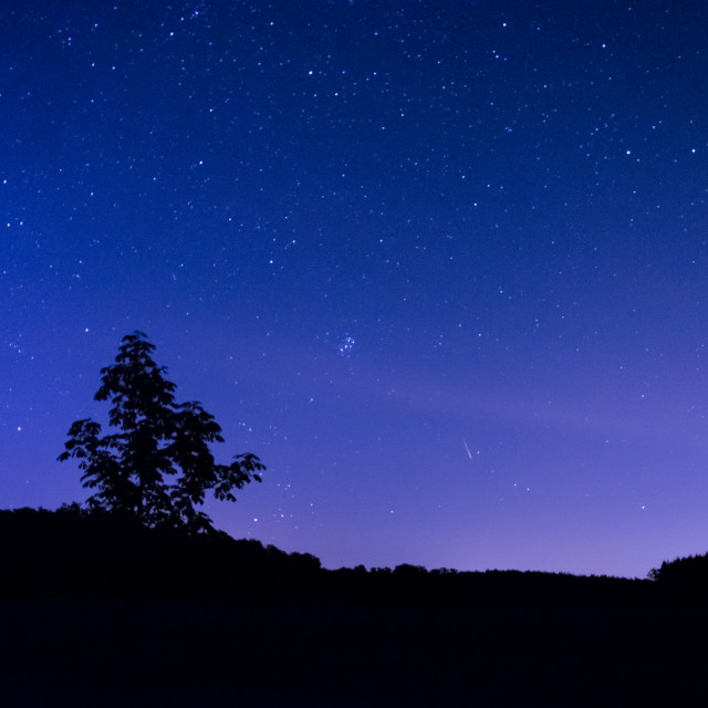 """Little Dipper and Perseids"" stock image"