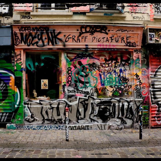 """Graffiti shop"" stock image"