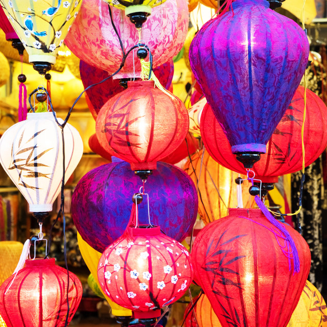"""Lanterns in Hoi An, Vietnam"" stock image"