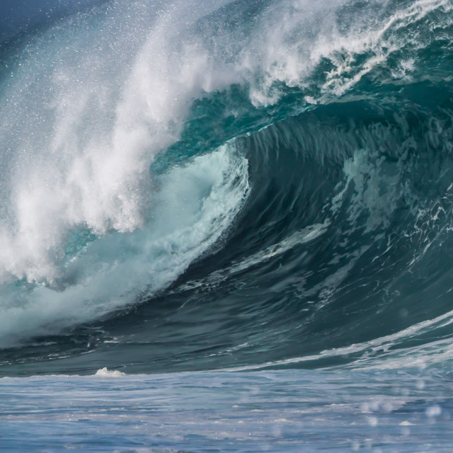 """A big Ocean Wave"" stock image"