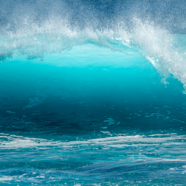"""Blue Ocean wave"" stock image"