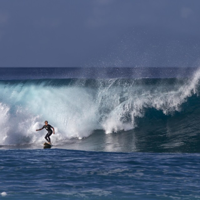 """""""A surfer in Hawaii"""" stock image"""