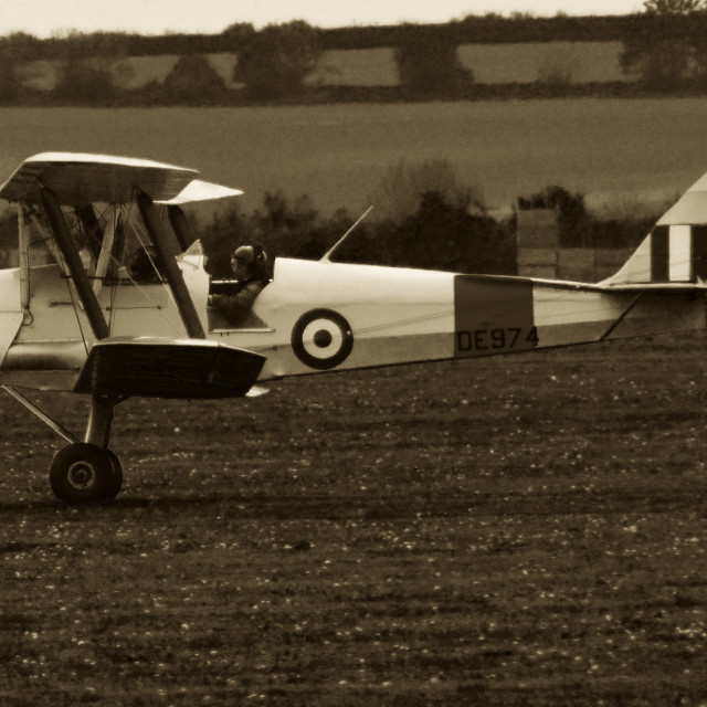 """De havilland tiger moth"" stock image"
