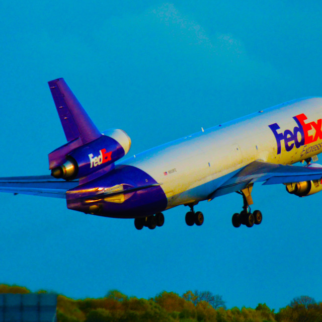 """Fed Ex MD-11 (dc-10)"" stock image"
