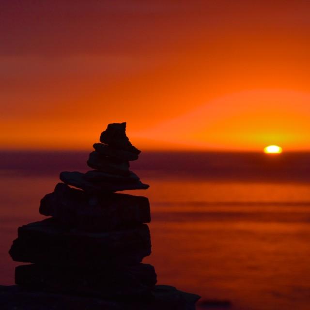 """Sunrise at Cap de Creus Lighthouse"" stock image"