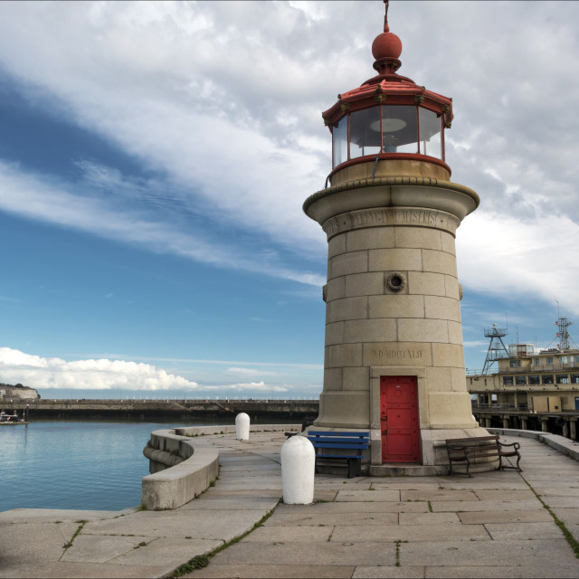 """""""Harbour lighthouse."""" stock image"""