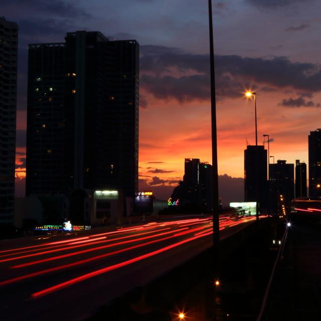 """""""Bangkok Skyline at dusk"""" stock image"""