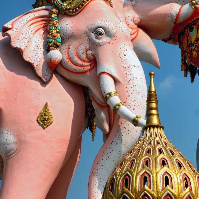 """""""Pink Elephant Statue, Bangkok"""" stock image"""