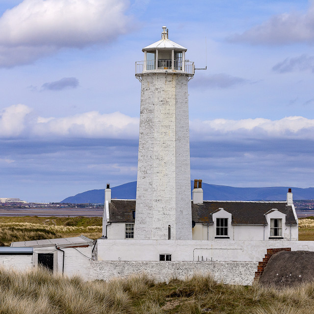 """Walney Lighthouse"" stock image"