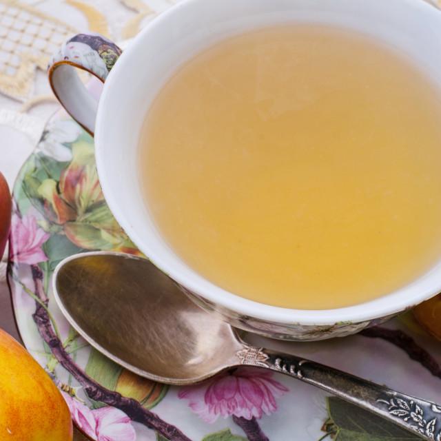 """Retro Tea Cup Closeup"" stock image"