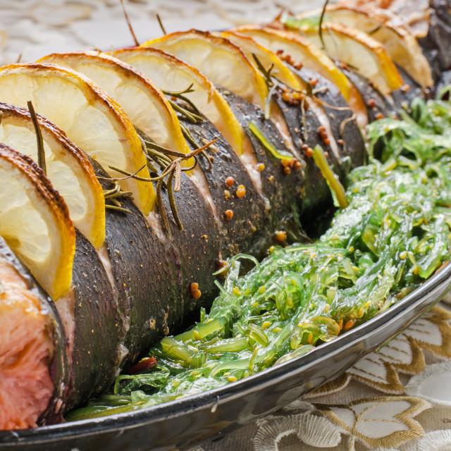 """Fish and Seaweed Salad"" stock image"