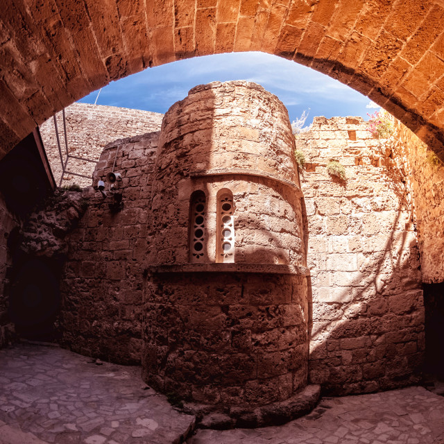 """Byzantine church of St George. Kyrenia castle. Cyprus"" stock image"