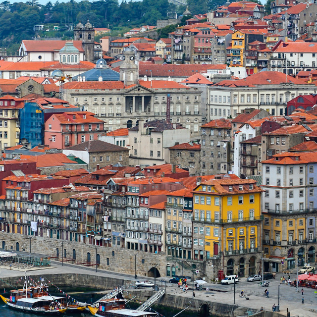 """The old town Oporto, Portugal"" stock image"