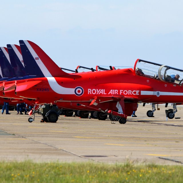 """Red Arrows RAF Valley"" stock image"
